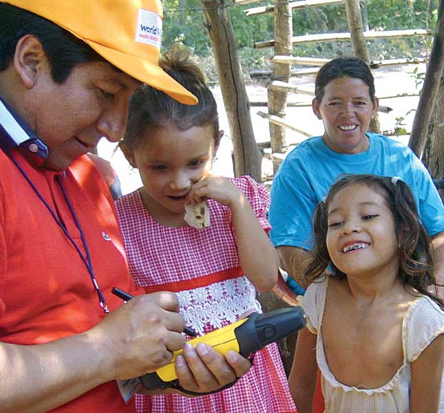 World Vision in El Salvador worker surveys information