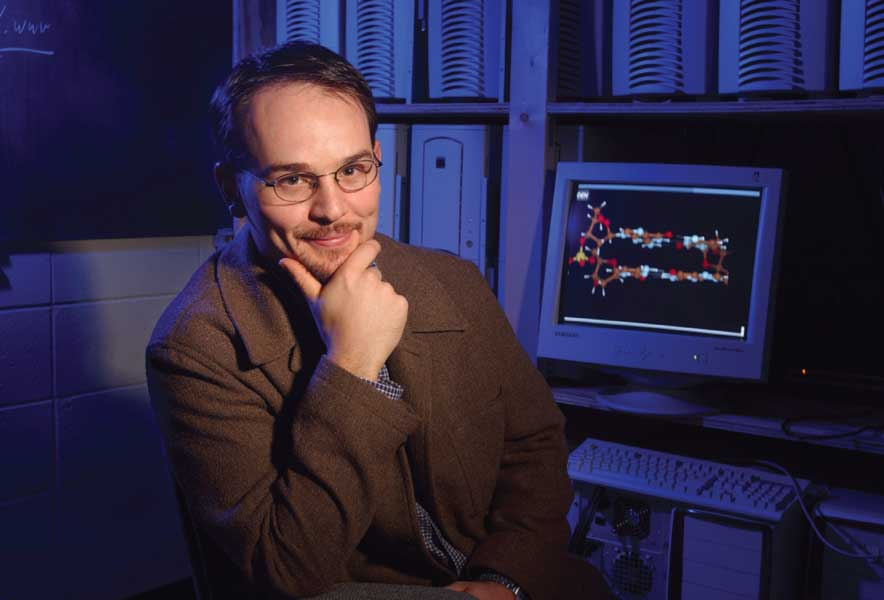 Dr. Greg Tschumper uses supercomputers to study how molecules interact.